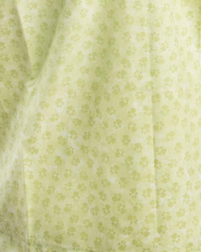 Green Paws Short Sleeve Scrub Top 100% Cotton