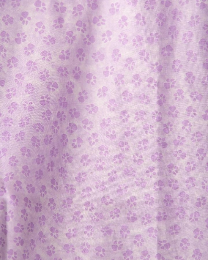 Purple Paws Short Sleeve Scrub Top 100% Cotton