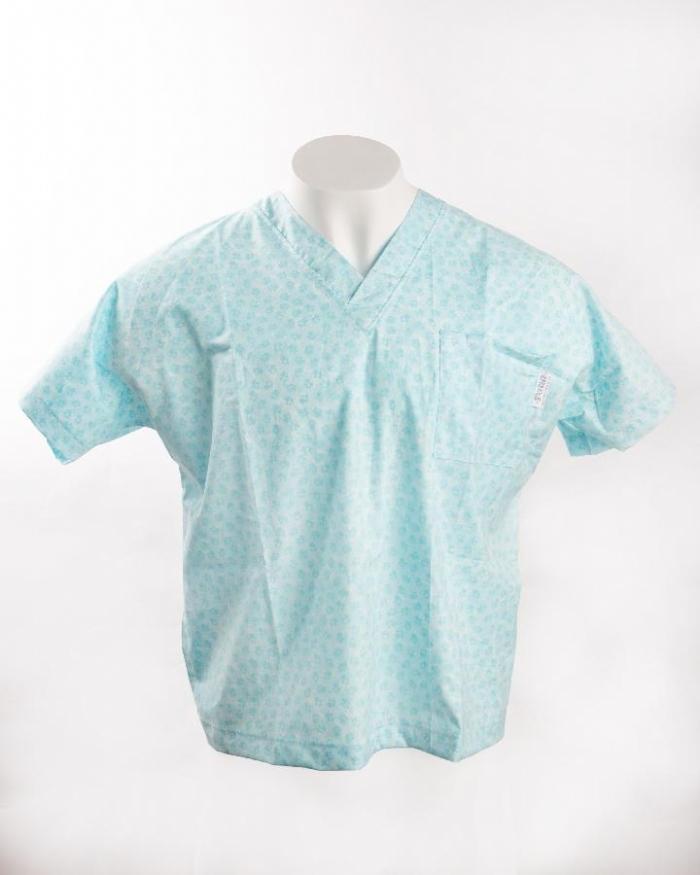 Blue Paws Short Sleeve Scrub Top 100% Cotton