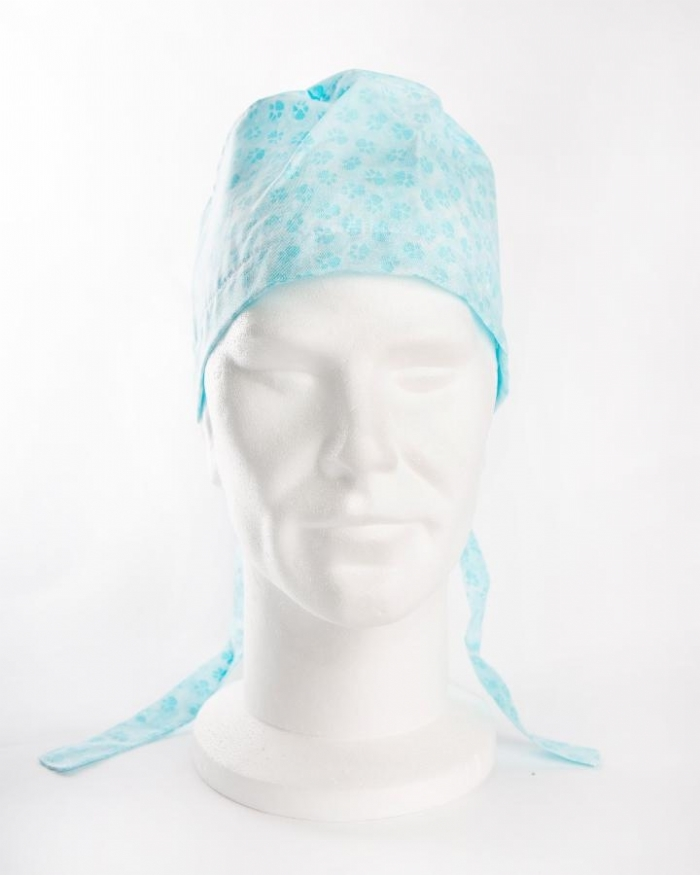 Blue Paws Surgeons Hat 100% Cotton