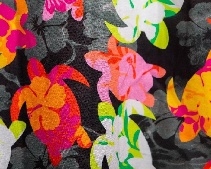 Multicolored Turtles Short Sleeve Scrub Top 100% Cotton
