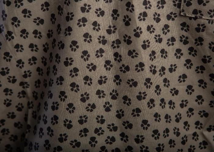 Dog Prints Short Sleeve Scrub Top 100% Cotton