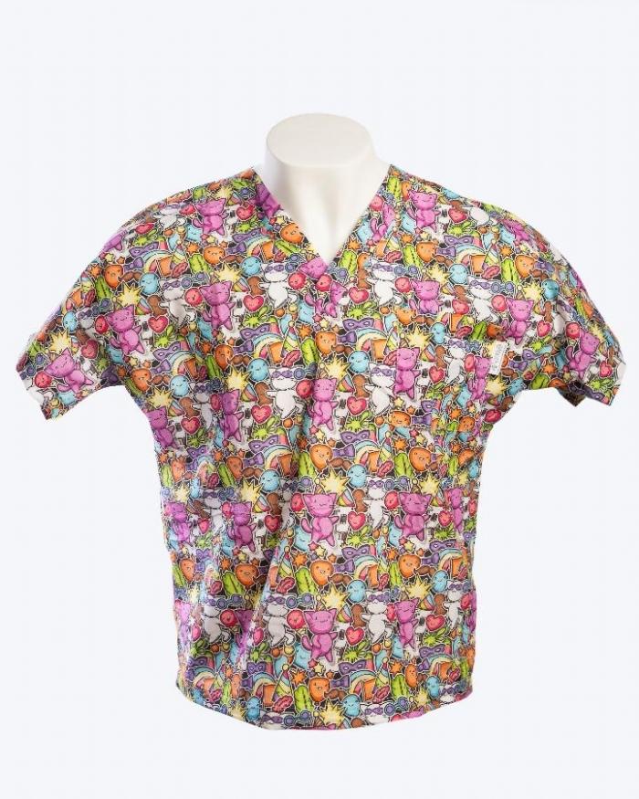 Magic Pop Short Sleeve Scrub Top 100% Cotton