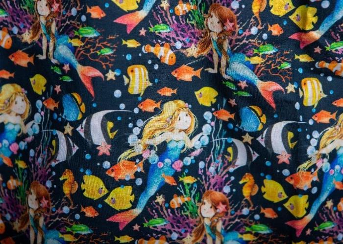 Golden Mermaid Short Sleeve Scrub Top 100% Cotton