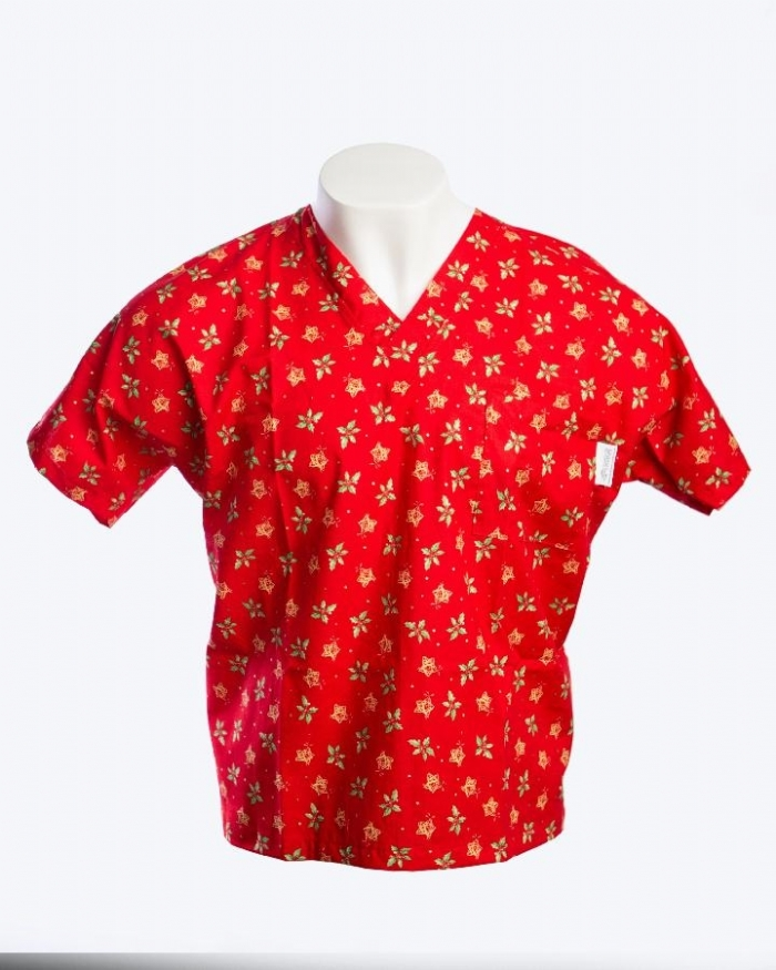 Holly And The Stars Short Sleeve Scrub Top 100% Cotton