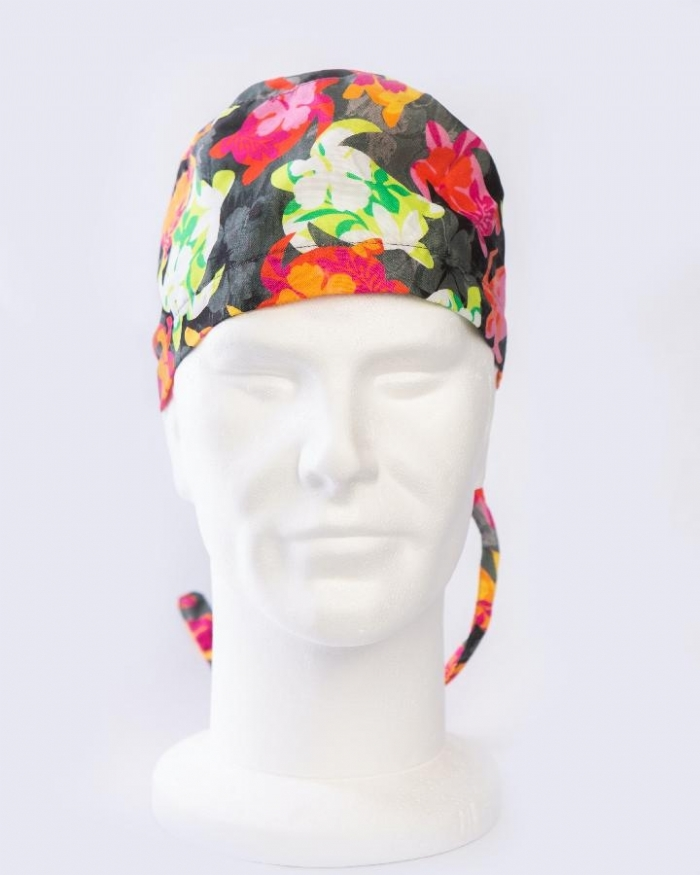 Multicolored Turtles Surgeons Hat 100% Cotton