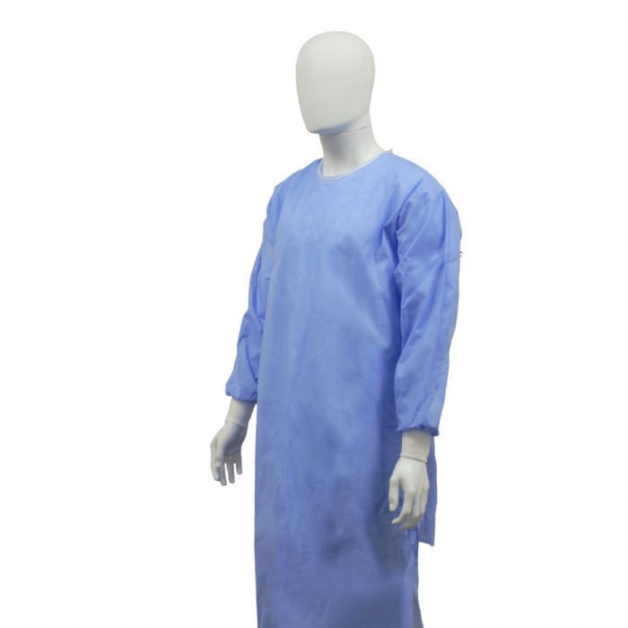 Coveron Surgical Gown Ultra Reinforced Blue Sterile