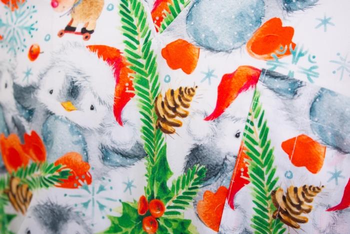 Holly And The Bird Short Sleeve Scrub Top 100% Cotton