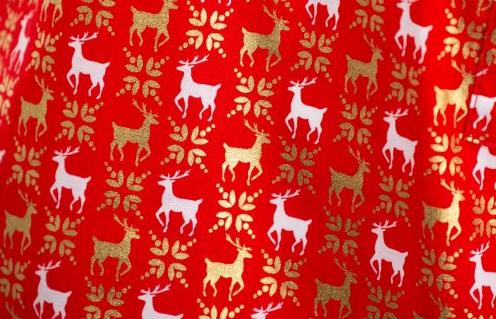 Majestic Reindeer Short Sleeve Scrub Top 100% Cotton
