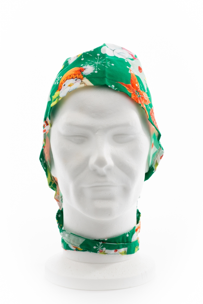 Green Snowman And The Star Surgeons Hat 100% Cotton